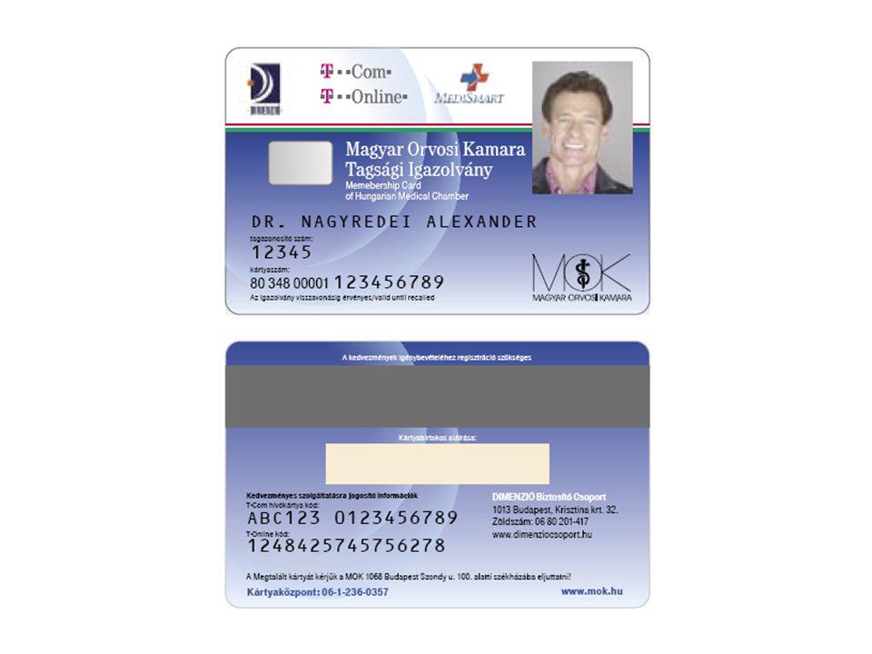 Az új kártya rövid bemutatása Oberthur Cosmo 64RSA D V5.4 HUNEID kompatibilis alkalmazás Authetikációs és aláíró tanúsítványok kezelése (Dimenzió Egészségpénztár alkalmazásai) Kibocsátás: 2006.