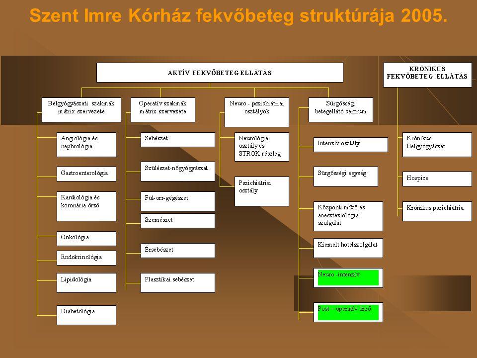 Szent Imre Kórház fekvőbeteg struktúrája 2005.