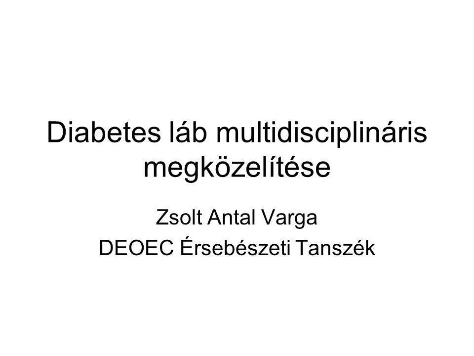 Diabetes láb multidisciplináris megközelítése Zsolt Antal Varga DEOEC Érsebészeti Tanszék