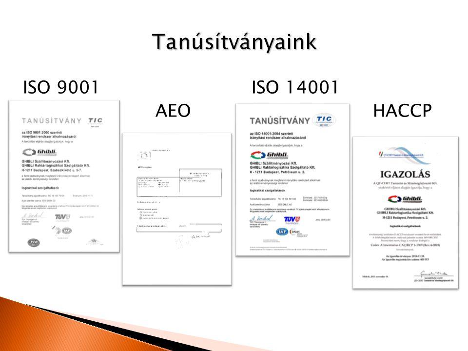 ISO 9001 ISO 14001 AEO HACCP