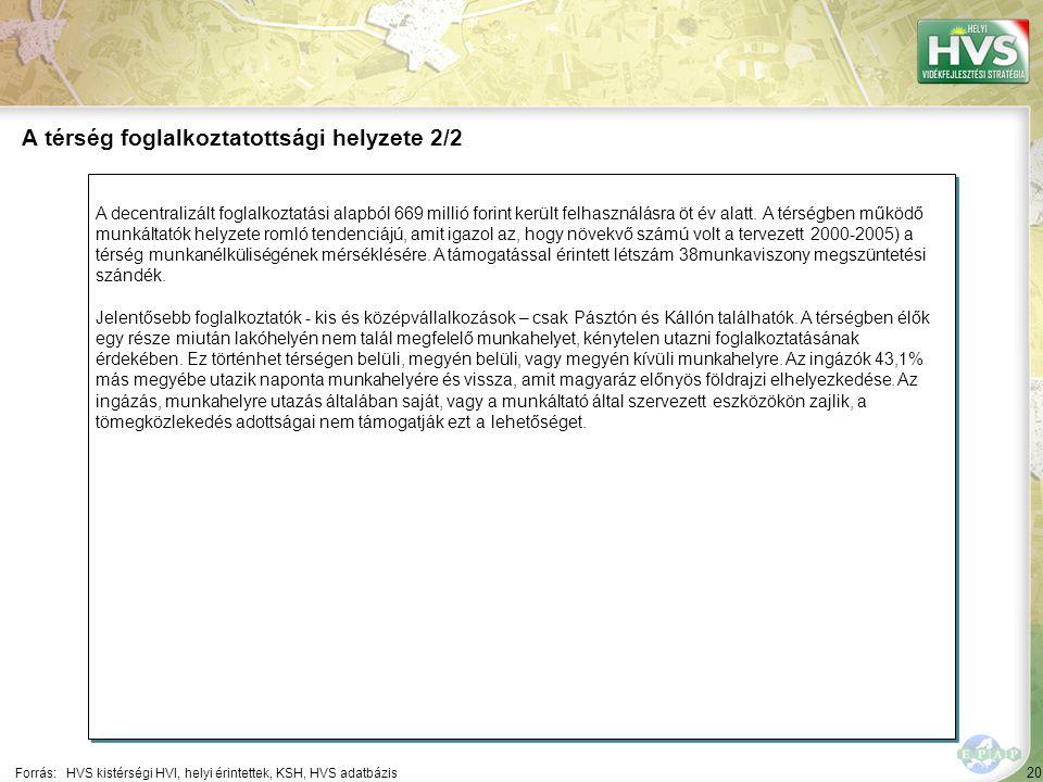 20 A decentralizált foglalkoztatási alapból 669 millió forint került felhasználásra öt év alatt.