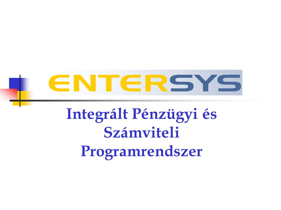 Az Entersys 1990 óta piacon lévő DOS-os elődjének logikája alapján kifejlesztett, Windows operációs rendszer alatt futó, InterBase adatbázis-kezelőre írt ügyviteli szoftvercsomag.
