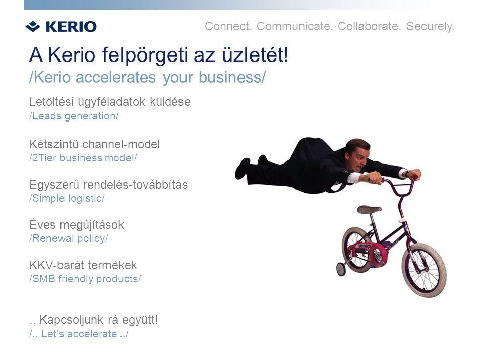 Connect. Communicate. Collaborate. Securely. A Kerio felpörgeti az üzletét! /Kerio accelerates your business/ Letöltési ügyféladatok küldése /Leads ge