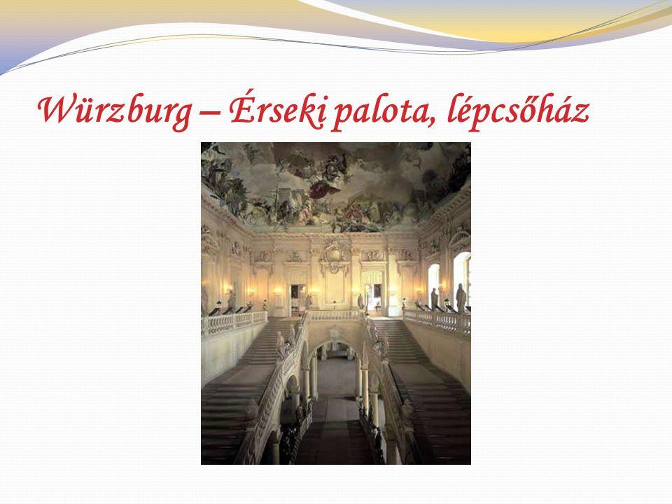 Würzburg – Érseki palota, lépcsőház