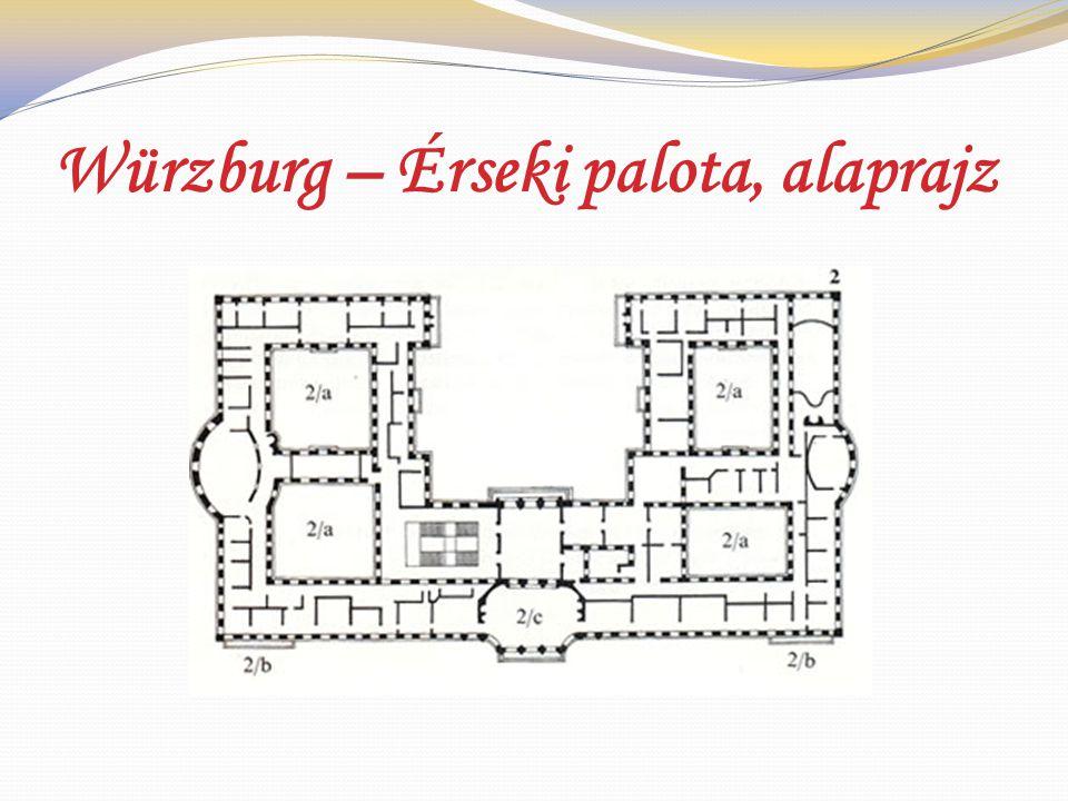 Würzburg – Érseki palota, alaprajz