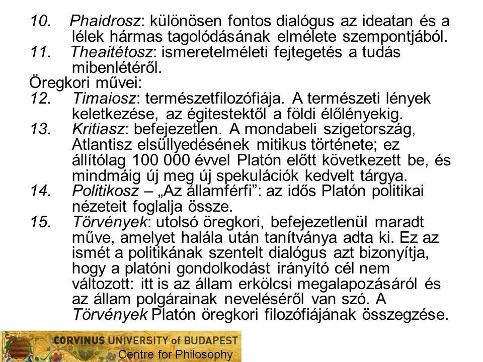 A platóni dialógus mint műfaj.3.
