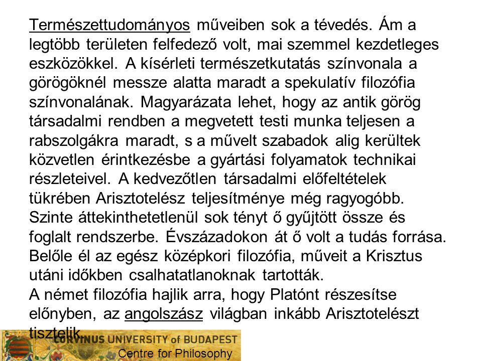 V.Szókratikus, platonikus és arisztotelikus iskolák 1.