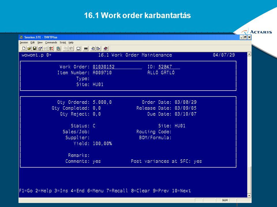 25 16. Work order modul