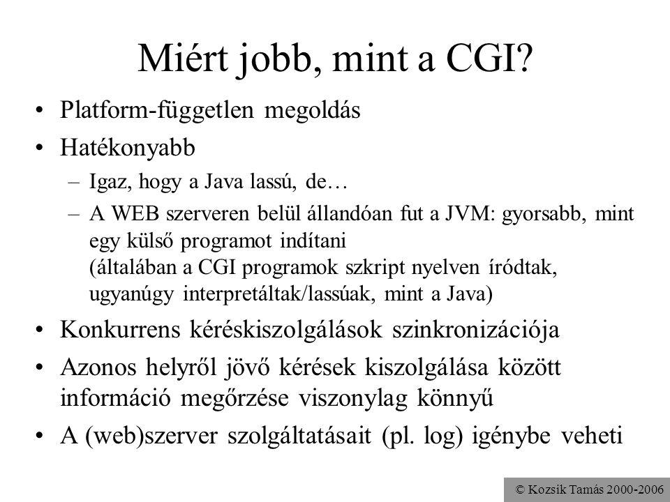 © Kozsik Tamás 2000-2006 Miért jobb, mint a CGI.