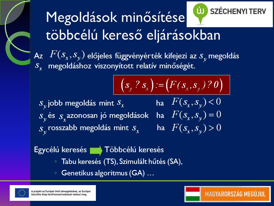 Megoldás változatok értékelésének matematikai modellje