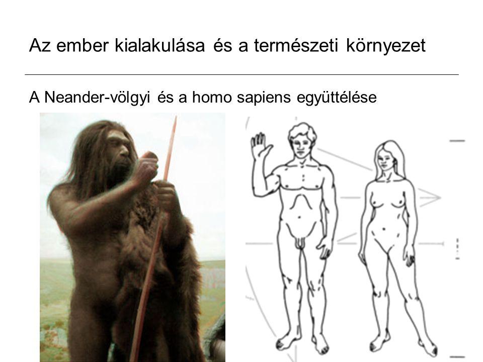 Az ember kialakulása és a természeti környezet A Neander-völgyi és a homo sapiens együttélése