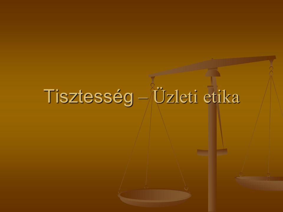 Tisztesség – Üzleti etika