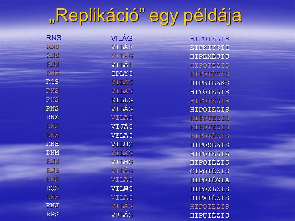 """""""Replikáció"""" egy példája RNS RGS RNS RNS RNX RNHDNM RNS RQS RNS RNJ RPS VILÁG VILÁF VILÁG VILÁL IDLYG VILÁGVILÁG KILLG VILÁGVILÁG VIJÁG VELÁG VILUG VI"""
