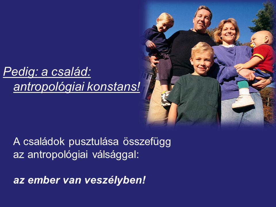 Pedig: a család: antropológiai konstans.