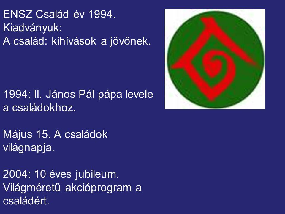 ENSZ Család év 1994.Kiadványuk: A család: kihívások a jövőnek.