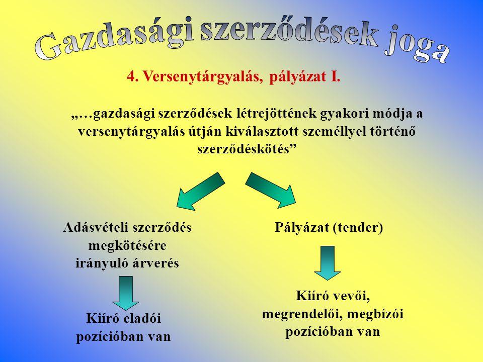4.Versenytárgyalás, pályázat I.