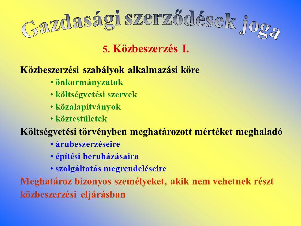 5.Közbeszerzés I.