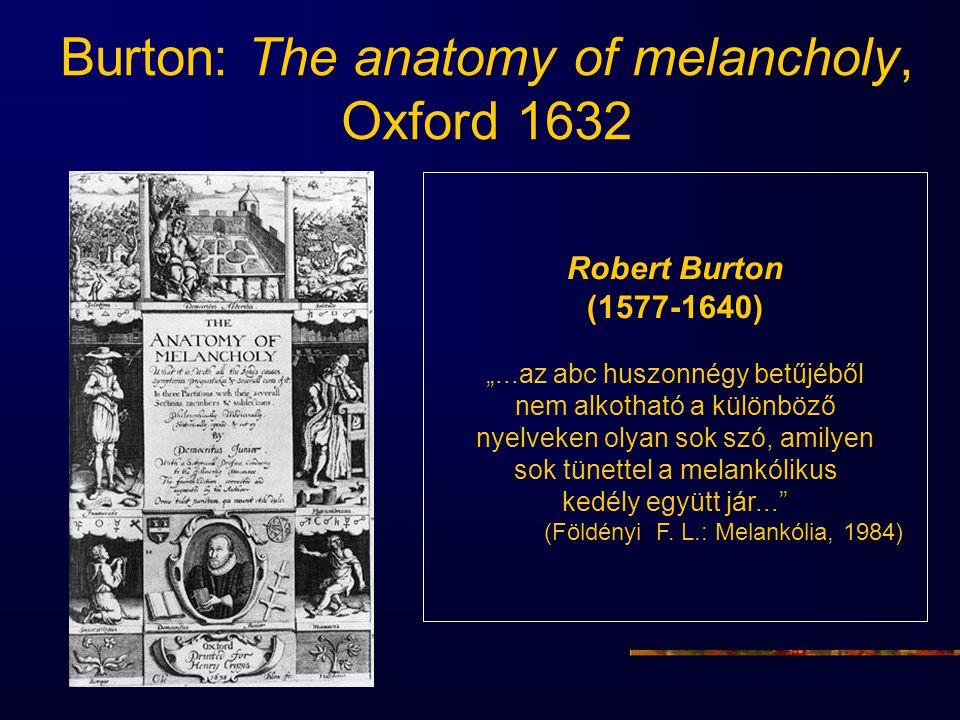 """Burton: The anatomy of melancholy, Oxford 1632 Robert Burton (1577-1640) """"...az abc huszonnégy betűjéből nem alkotható a különböző nyelveken olyan sok"""