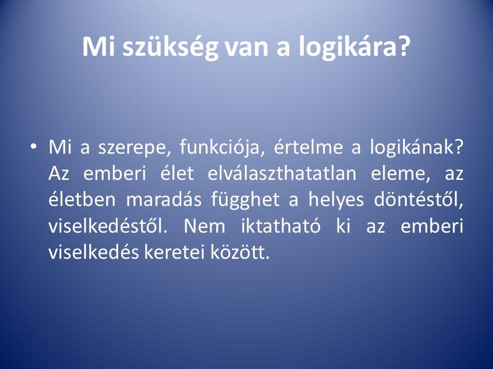 Mi szükség van a logikára? Mi a szerepe, funkciója, értelme a logikának? Az emberi élet elválaszthatatlan eleme, az életben maradás függhet a helyes d