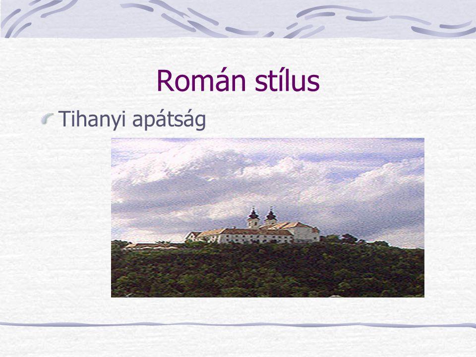 Román stílus Tihanyi apátság