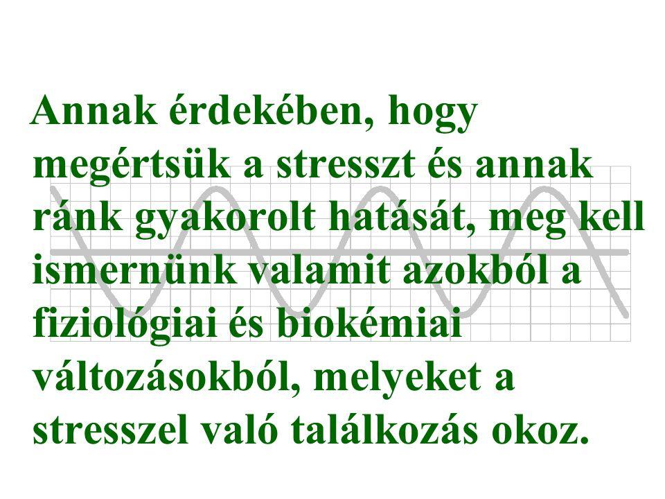 Annak érdekében, hogy megértsük a stresszt és annak ránk gyakorolt hatását, meg kell ismernünk valamit azokból a fiziológiai és biokémiai változásokbó