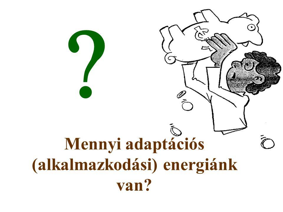Mennyi adaptációs (alkalmazkodási) energiánk van? 