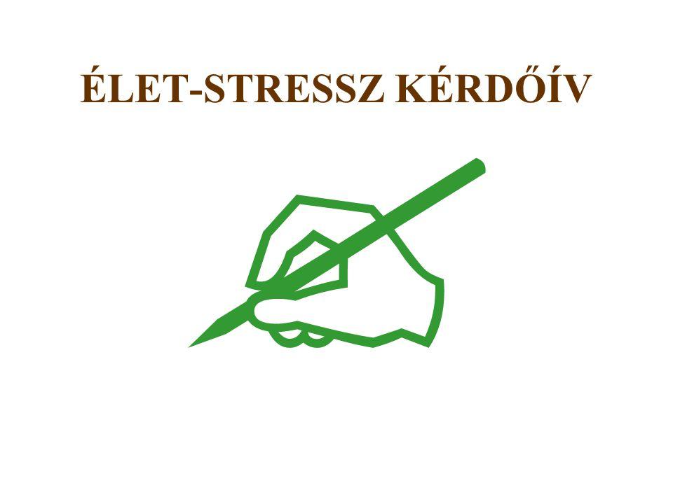  ÉLET-STRESSZ KÉRDŐÍV