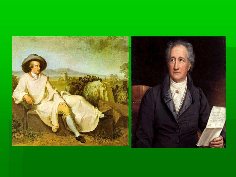 Werther szerelme és halála (1774)  (Másik címe: Az ifjú Werther szenvedései)  Műfaja: levélregény  (a levelek kelte: 1771.