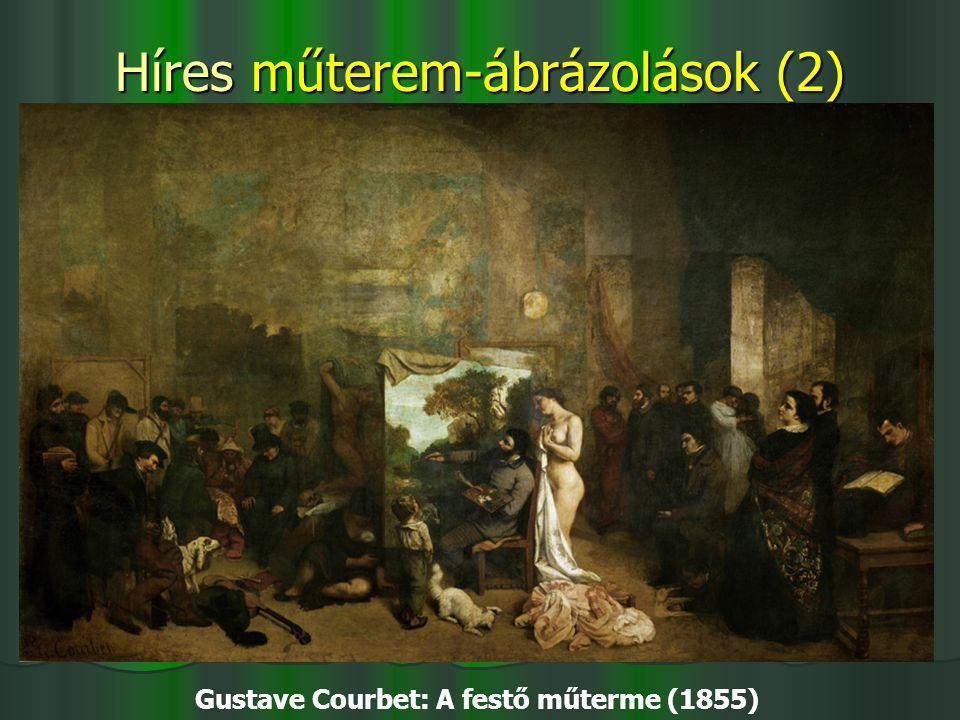Híres műterem-ábrázolások (2) Gustave Courbet: A festő műterme (1855)
