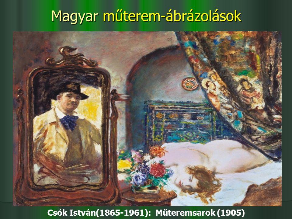 Magyar műterem-ábrázolások Csók István(1865-1961): Műteremsarok (1905)