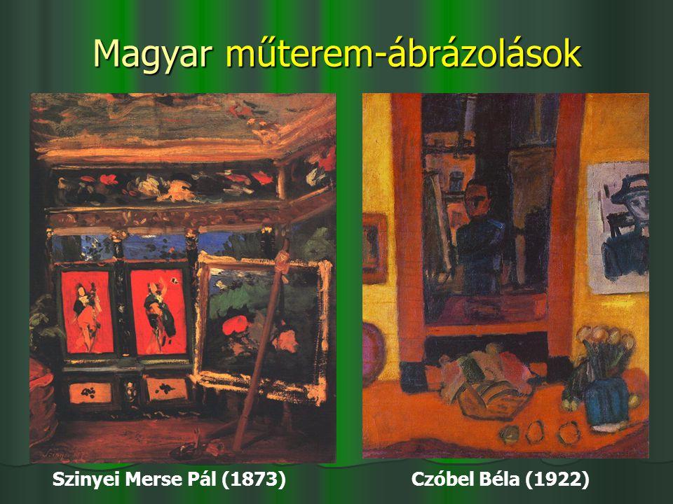 Magyar műterem-ábrázolások Szinyei Merse Pál (1873) Czóbel Béla (1922)