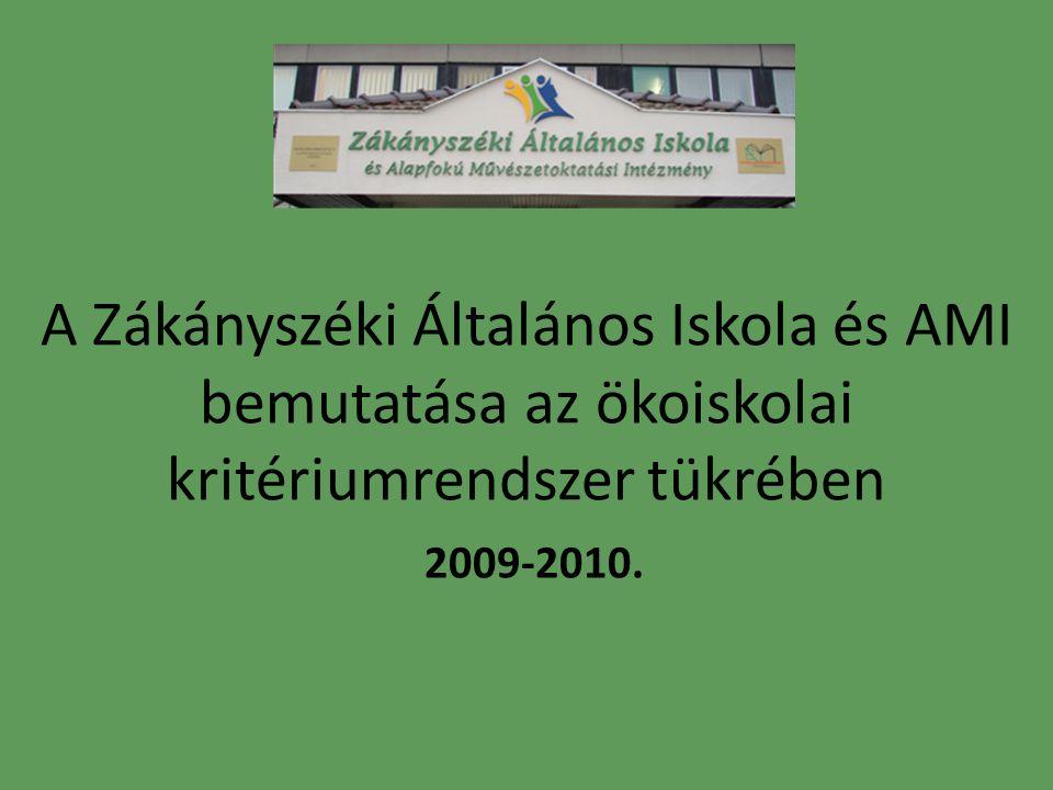 A Zákányszéki Általános Iskola és AMI bemutatása az ökoiskolai kritériumrendszer tükrében 2009-2010.