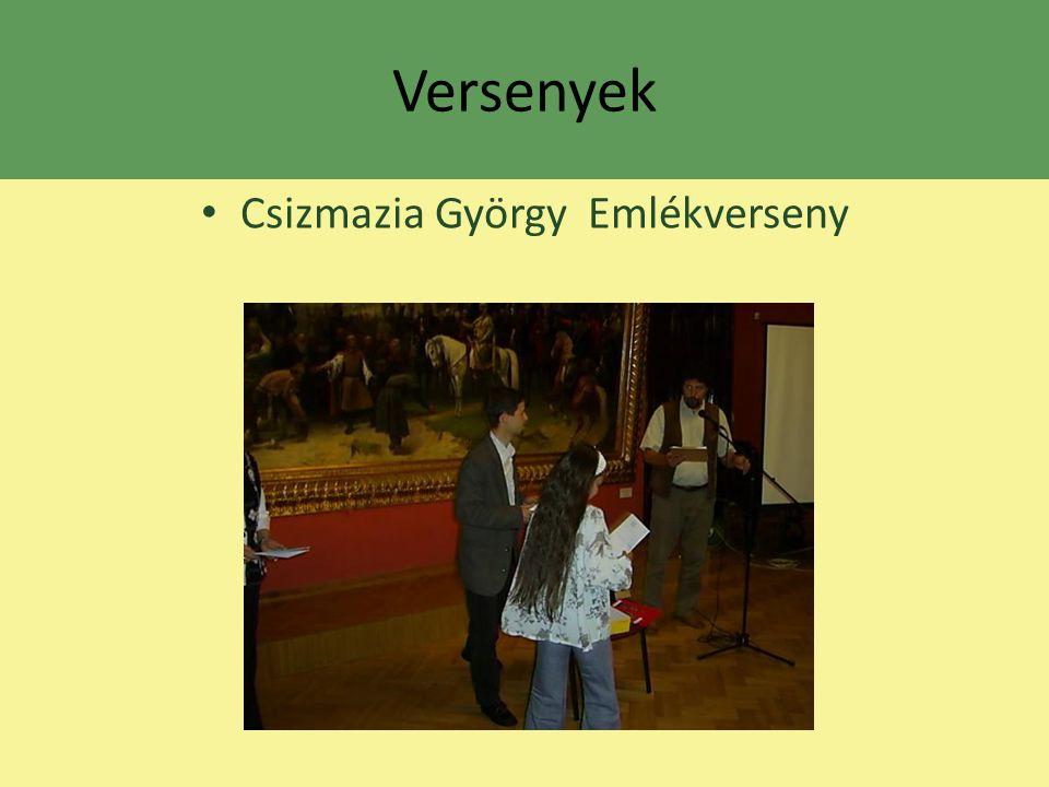 Versenyek Csizmazia György Emlékverseny