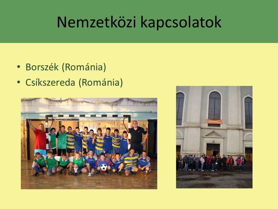 Nemzetközi kapcsolatok Borszék (Románia) Csíkszereda (Románia)