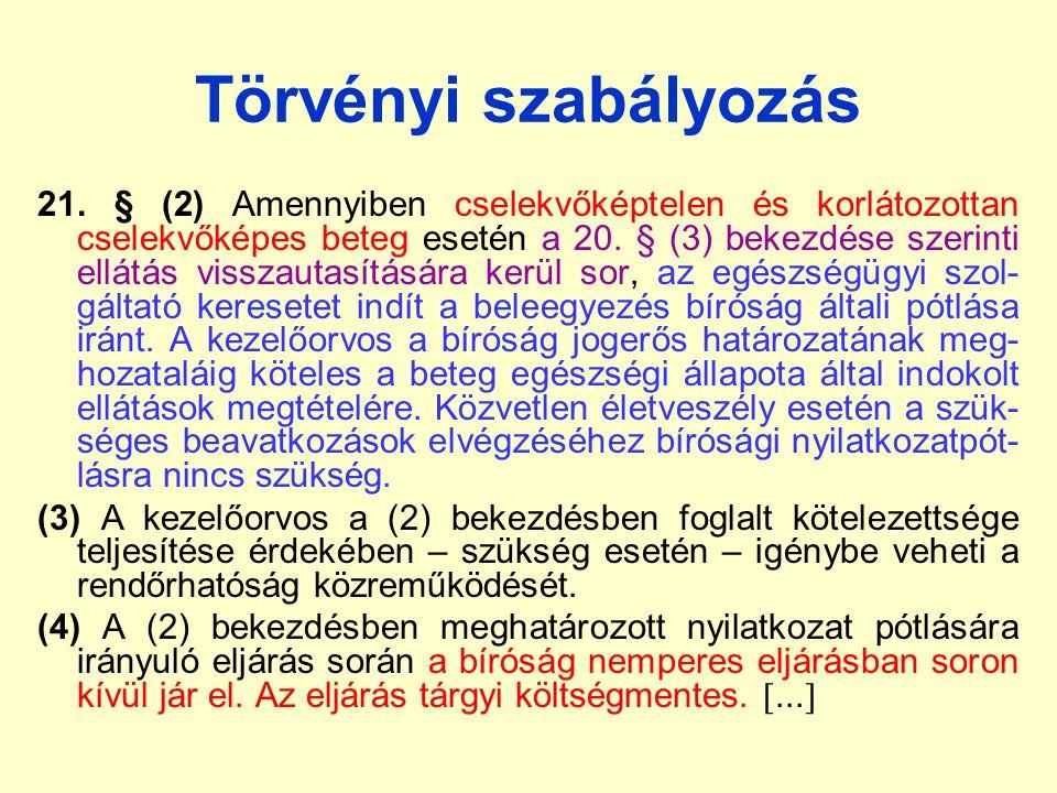 Törvényi szabályozás 21.