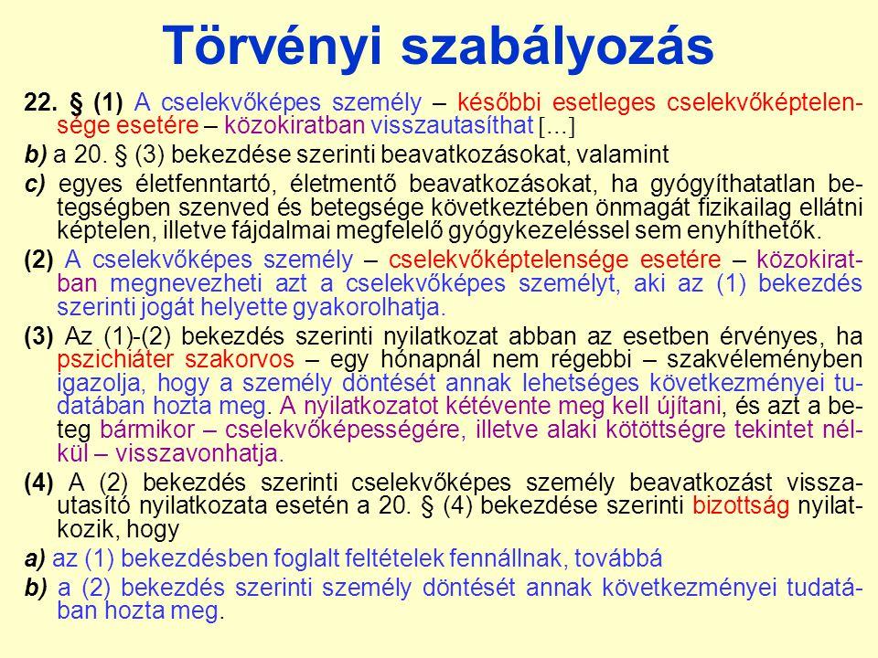 Törvényi szabályozás 22.