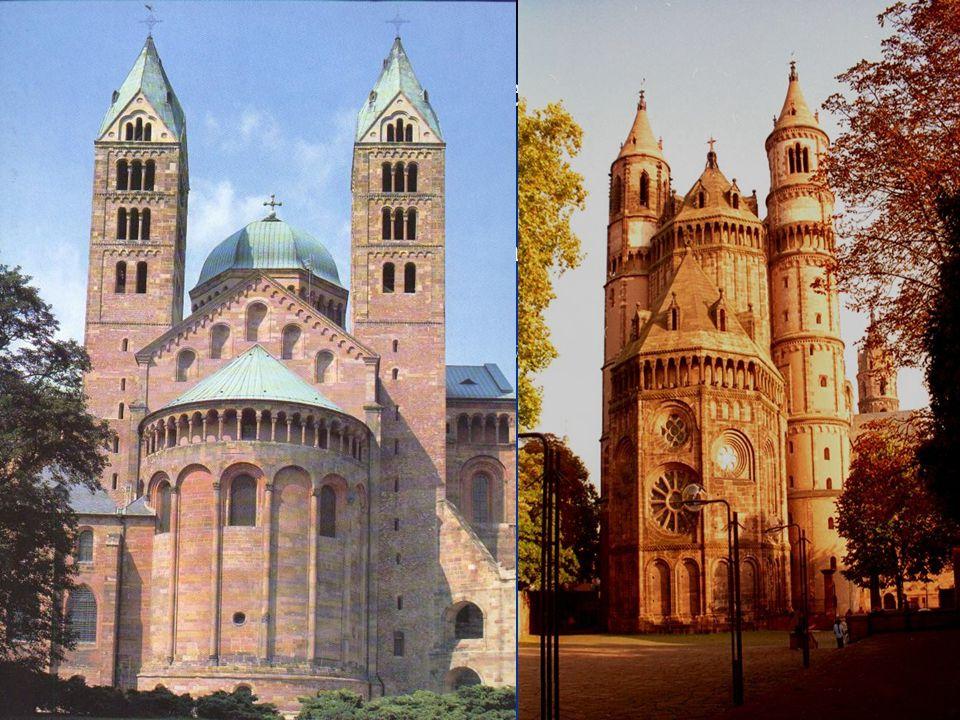 A középkor építészete: Román stílus Román stílus (1000-1250) Román stílus (1000-1250) Jellemzői: vastag erődszerű falak, keskeny, lőrésszerű ablakok J