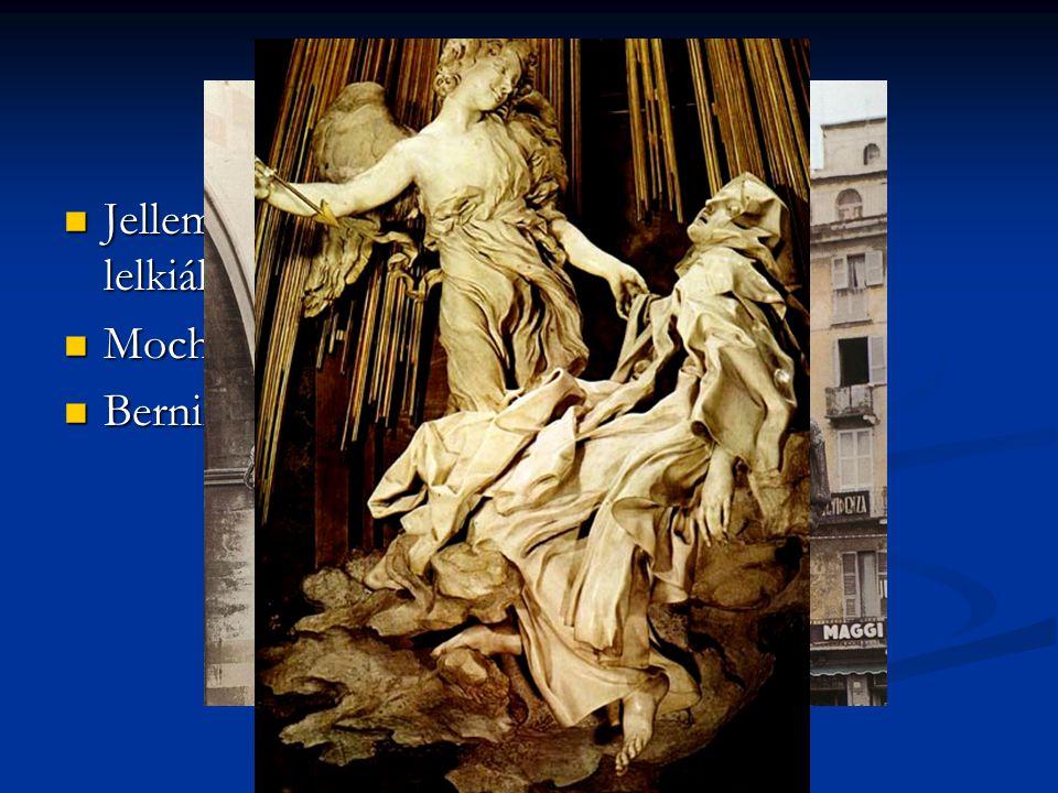 A barokk szobrászat Jellemzői: felfokozott mozgás, érzelmek, lelkiállapot Jellemzői: felfokozott mozgás, érzelmek, lelkiállapot Mochi: Farnese lovas s