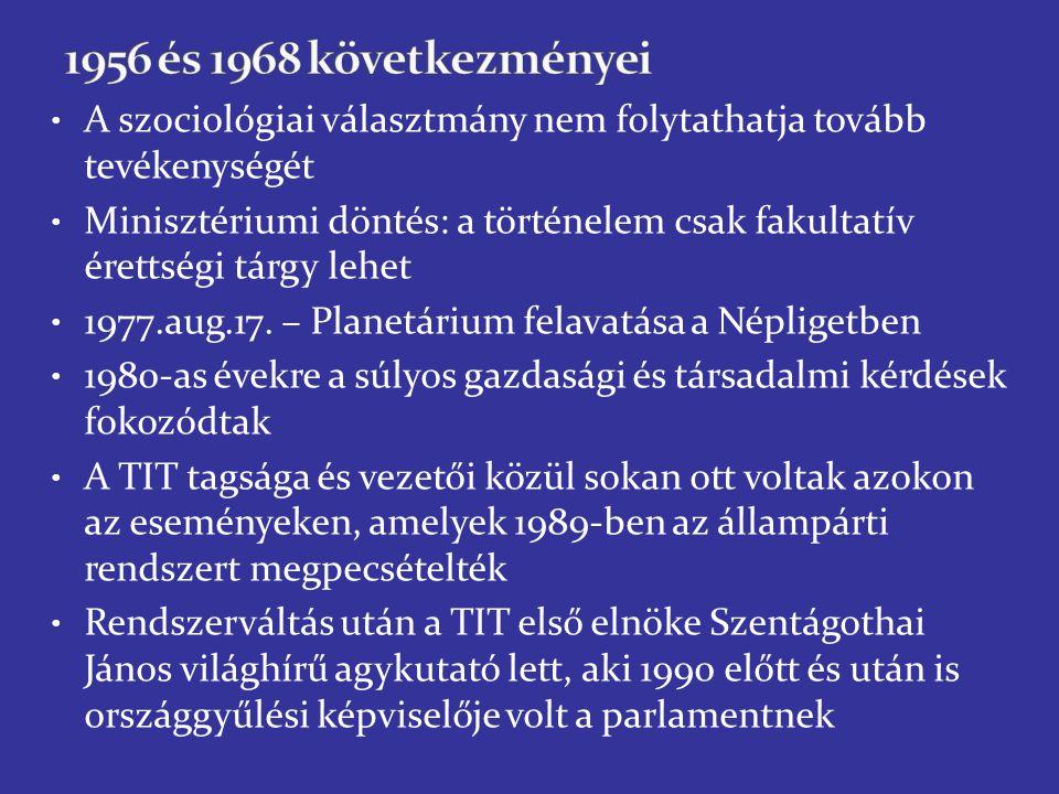 A szociológiai választmány nem folytathatja tovább tevékenységét Minisztériumi döntés: a történelem csak fakultatív érettségi tárgy lehet 1977.aug.17.