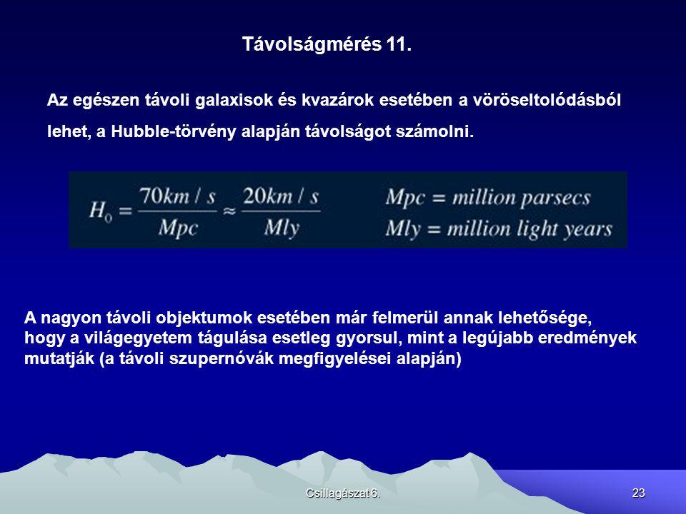 Csillagászat 6.23 Távolságmérés 11.