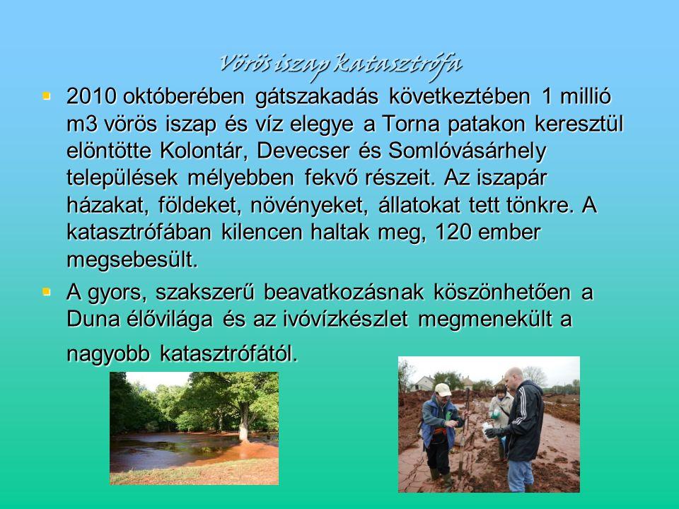 Vörös iszap katasztrófa  2010 októberében gátszakadás következtében 1 millió m3 vörös iszap és víz elegye a Torna patakon keresztül elöntötte Kolontá