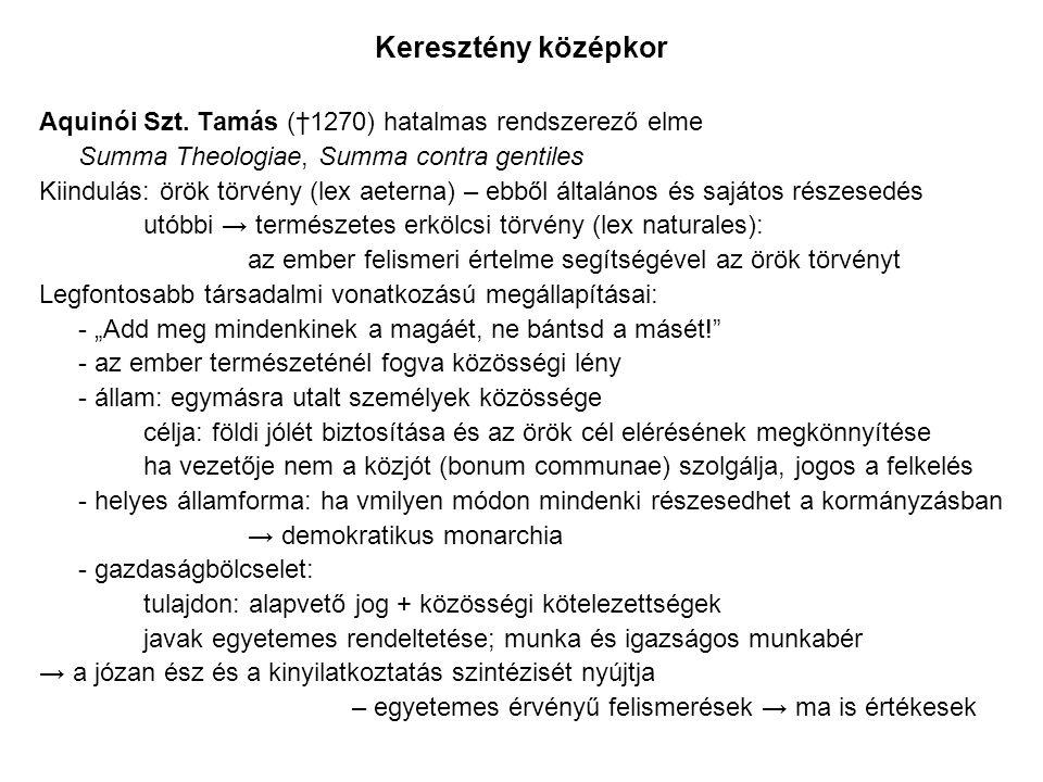 Keresztény középkor Aquinói Szt.