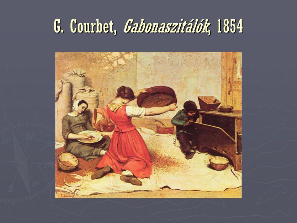 G. Courbet, Gabonaszitálók, 1854
