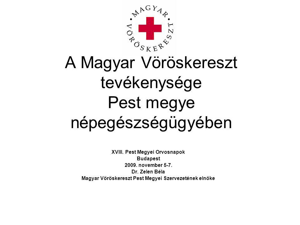 A Magyar Vöröskereszt tevékenysége Pest megye népegészségügyében XVIII.