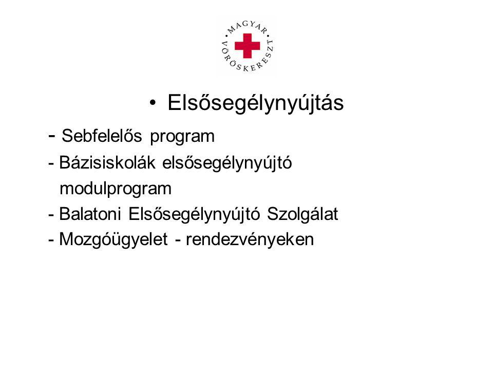 Elsősegélynyújtás - Sebfelelős program - Bázisiskolák elsősegélynyújtó modulprogram - Balatoni Elsősegélynyújtó Szolgálat - Mozgóügyelet - rendezvényeken