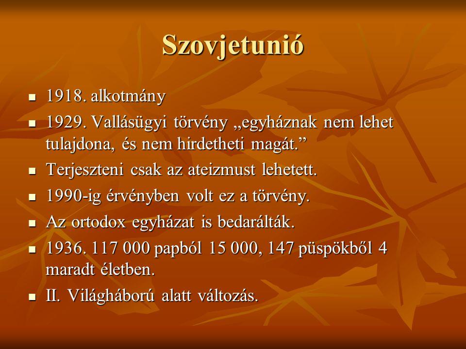 Szovjetunió 1918.alkotmány 1918. alkotmány 1929.
