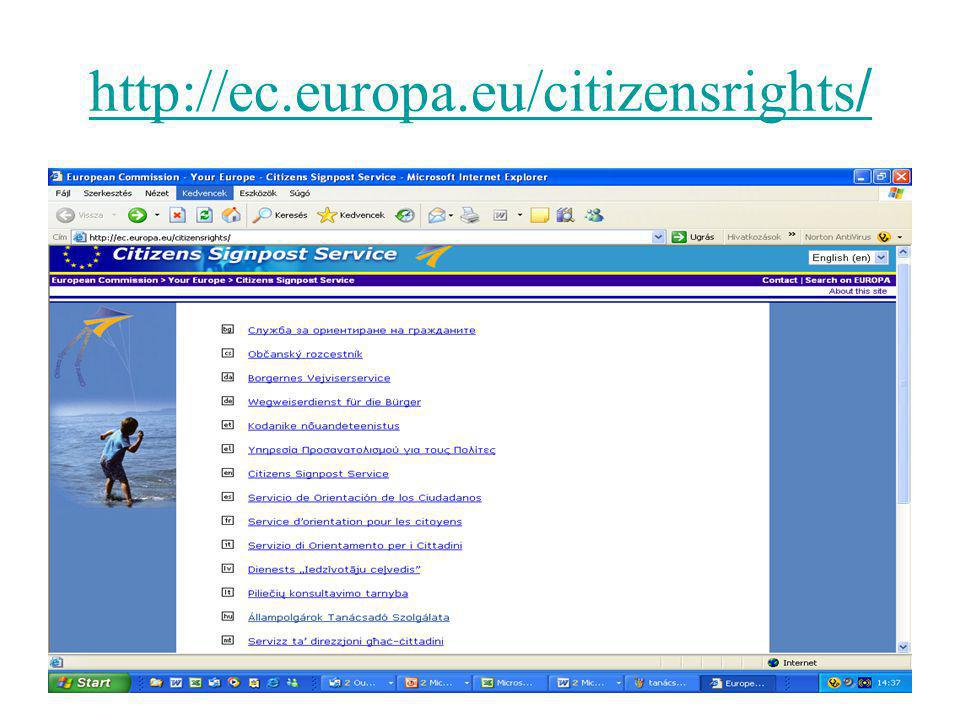 http://ec.europa.eu/citizensrights /