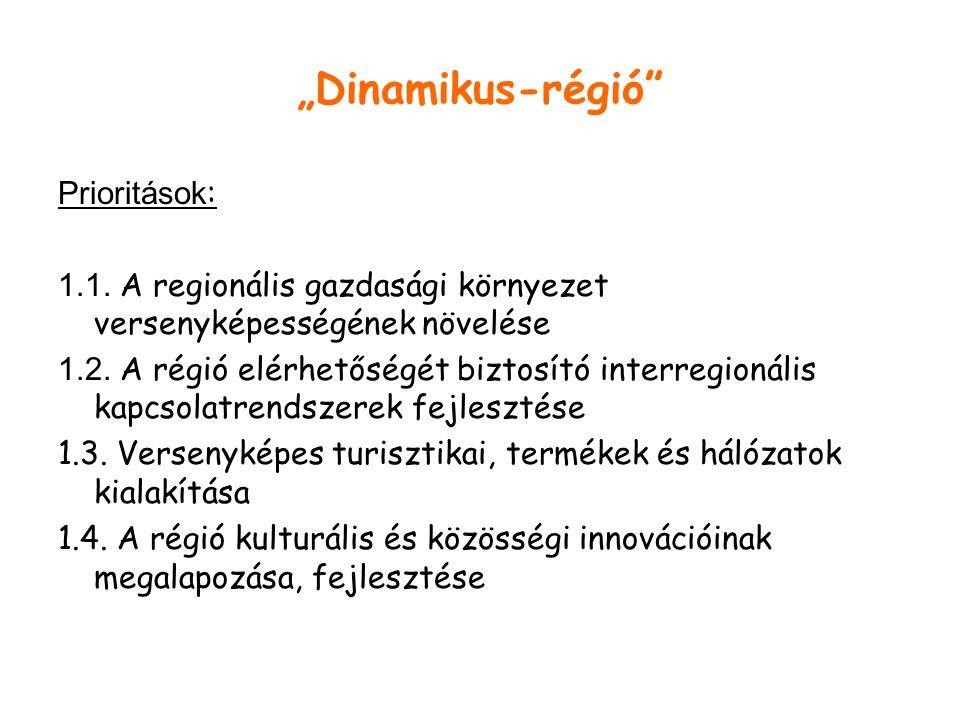 """""""Dinamikus-régió Prioritások : 1.1."""