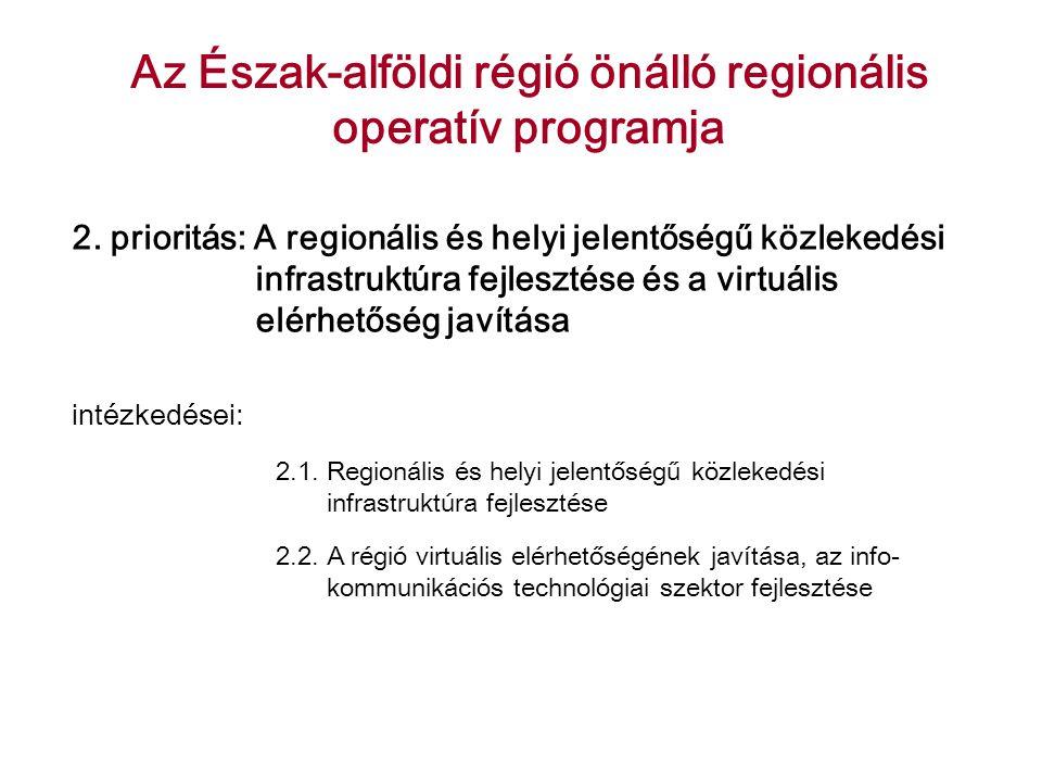 Az Észak-alföldi régió önálló regionális operatív programja 2.