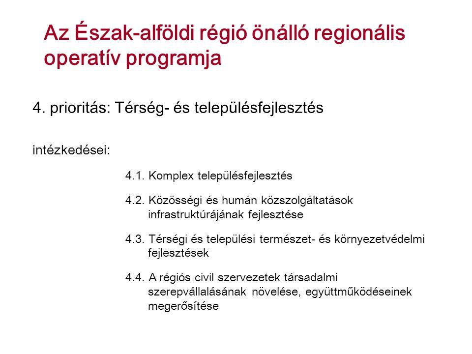 Az Észak-alföldi régió önálló regionális operatív programja 4.